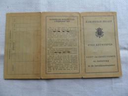 ANCIENNE CARTE D'ID. BELGE  VILLE ANVERS  1941  / POUR COLLECT. - Documentos Históricos