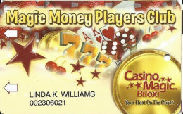 Casino Magic - Biloxi, MS - Slot Card - Copyright 2003 - Casino Cards