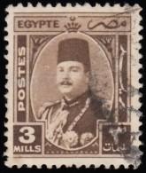 EGYPT - Scott #244 King Farouk / Used Stamp - Egypt