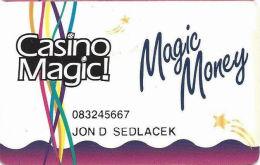 Casino Magic Casinos - LA & MS - Slot Card - PPC Over 11mm Mag Stripe - PRINTED  INFO - Casino Cards