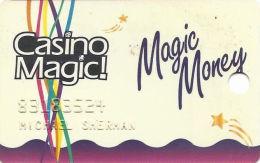 Casino Magic Casinos - LA & MS - Slot Card - No Text Over Mag Stripe - Casino Cards