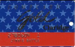 Claridge Casino - Atlantic City, NJ - Slot Card - No (R) After Claridge In Reverse Logo - EMBOSSED - Casino Cards