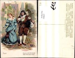 194637,Liebe Präge Ak Paar Spaziert D. Gasse Faust Spruch Text - Paare