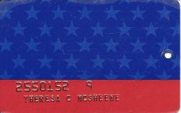 Claridge Casino - Atlantic City, NJ - Slot Card - No Text On Front - EMBOSSED INFO - Casino Cards