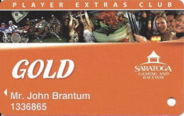 Saratoga Casino NY - Slot Card - Casino Cards