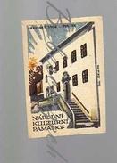 23-200 CZECHOSLOVAKIA 1963 National Cultural Monuments  Fulnek Jan Amos Comenius Memorial - Boites D'allumettes - Etiquettes