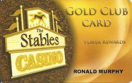 Stables Casino Maimi, OK - Slot Card - 01 Over Mag Stripe - No Player# - Casino Cards