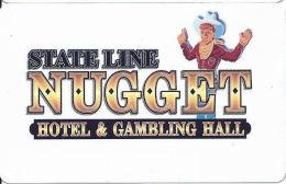 Stateline Nugget Casino - Wendover, NV - Slot Card  (BLANK) - Casino Cards