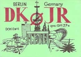 Amateur Radio QSL Card - DK0JR - Berlin, Germany - 1977 - 2 Scans - Radio Amateur