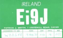 Amateur Radio QSL Card -  EI9J - Ireland - 1977 14 MHz - 2 Scans - Radio-amateur
