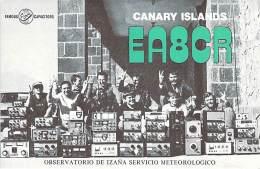 Amateur Radio QSL Card -  EA2CR - Canary Islands - 1977 CQ WW DX Contest - 2 Scans - Radio-amateur