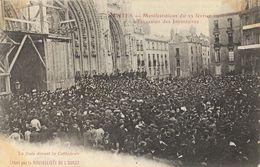 Nantes - Manifestations Du 22 Février 1906 à L'occasion Des Inventaires, La Foule - Carte Non Circulée - Betogingen