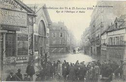 Chalon-sur-Saône - Inondations Des 24 & 25 Janvier 1910 - Rue De L'Obélisque Et Halles - Carte Non Circulée - Inondations