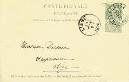 Entier Postal Lion Couché  HAAVELANGE 1895 Vers LIEGE  Signé La Comtesse Marg. De LIEDEKERKE Château De ST-FONTAINE - Ganzsachen