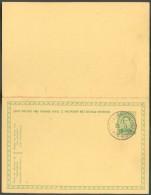 LE HAVRE Sainte ADRESSE - E.P. Carte Double 5 + 5 Centimes Obl. Sc Ste-ADRESSE POSTE  BELGE Du 25-I-1916 - 11214 - WW I