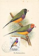 D24326 CARTE MAXIMUM CARD 1981 AITUTAKI - POEPHILA LONGTAILED FINCH CP ORIGINAL - Zangvogels