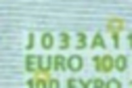 S  ITALIA 100 EURO J033 A1 -  FIRST POSITION - TRICHET  UNC - EURO