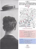 MARQUE-PAGE 39 FESTIVAL INTERNATIONAL DU FILM DE LA ROCHELLE STANISLAS BOUVIER CHAPEAU - Bladwijzers