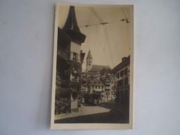 Suisse / Thun (BE) Photokarte  Mit Strassenbahn - Tram // 19?? - BE Bern