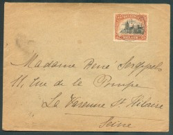 LE HAVRE Sainte ADRESSE - 35 Centimes Emission 1915 Obl. Sc Ste-ADRESSE Poste Belge  Sur Enveloppe Du 10-3-1916 Vers La - WW I