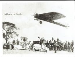 Flugpionier LATHAM In Berlin / Repro Altes Foto Im XXL-Großformat - Repro's