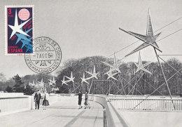 D24361 CARTE MAXIMUM CARD 1958 SPAIN - WORLD EXPO 1958 BRUSSELS LA PASSERELLE CP ORIGINAL
