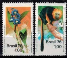 MDA-BK24-438 MBP MINT POSTFRIS ¤ BRASIL 1976 2w In Serie ¤ FLOWERS - MAMMALS OF THE WORLD - DIFF. ANIMALS - Apen