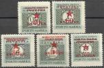 YU 1945-P1-5 PORTOMARKE, YUGOSLAVIA-REPUBLIK KROATIA, 1 X 5v, MNH - Portomarken