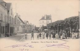 91 - MONTGERON - Rue Et Place Du Marché - Montgeron