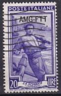 Repubblica Italiana, 1950/53 - AMG-FTT 20 Lire Italia Al Lavoro Fil. Ruota - Usato° - Used
