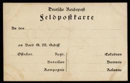 A4059) DR Vordruck-Feldpostkarte Marine Ostasien Ungebraucht - Deutschland