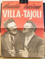 RIVISTA PIEGHEVOLE, MUSICALE, CLAUDIO VILLA E LUCIANO TAJOLI, 1960 - Musique