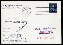 A4060) US Karte Vom Raketen-U-Boot GRAYBACK 1960 Nach Germany - Vereinigte Staaten