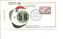 Exposition De Bruxelles -1958 ( FDC De La Journée Des Etats Arabes Unis à Voir)