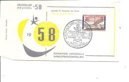 Exposition De Bruxelles -1958( FDC De La Journée Du Personnel Des Postes à Voir)
