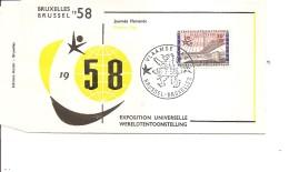 Exposition De Bruxelles -1958( FDC De La Journée Flamande à Voir)