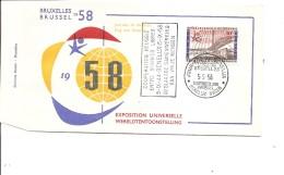 Exposition De Bruxelles -1958( FDC De La Journée Du Bénélux à Voir)