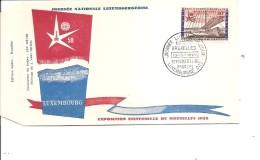 Exposition De Bruxelles -1958( FDC De La Journée Luxembourgeoise à Voir)