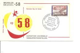Exposition De Bruxelles -1958( FDC De La Journée De L'Espagne à Voir)