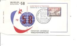 Exposition De Bruxelles -1958( FDc Des Journées De La Tchécoslovaquie à Voir)
