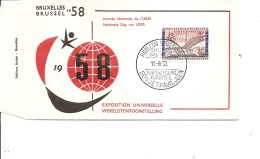 Exposition De Bruxelles -1958( FDC De La Journée De Russie à Voir)