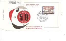 Exposition De Bruxelles -1958( FDC De La Journée De Tunisie à Voir)