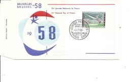 Exposition De Bruxelles -1958( Fdc De La Deuxième Journée De France à Voir)