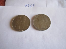 --1--PIECE--100--LIRE-ITALIE-1967-----TTB-SUP---- - 100 Lire