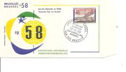 Exposition De Bruxelles -1958( FDC De La Journée Du Brésil à Voir)