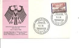 Exposition De Bruxelles -1958( FDC Des Journées Allemandes à Voir)