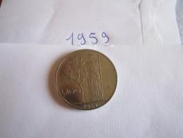 --1--PIECE--100--LIRE-ITALIE-1959-----TTB-SUP---- - 100 Lire