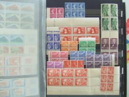 VEND SUPERBE COLLECTIONS DE TIMBRES EN BLOCS DE 4 OU 6, NEUFS LUXES, 1924-1957, COTE IMPORTANTE, BONNES VALEURS !!! - France