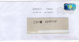 """2016--tp Adhésif Du Carnet """"Bonnes Vacances """"-- Seul Sur Lettre--Nouvelle  Oblitération Toshiba - Postmark Collection (Covers)"""