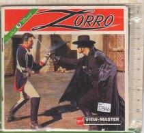 PO5794D# VIEW MASTER - STEREO PICTURE - DIAPOSITIVE - Libretto ZORRO - WALT DISNEY - Stereoscopi